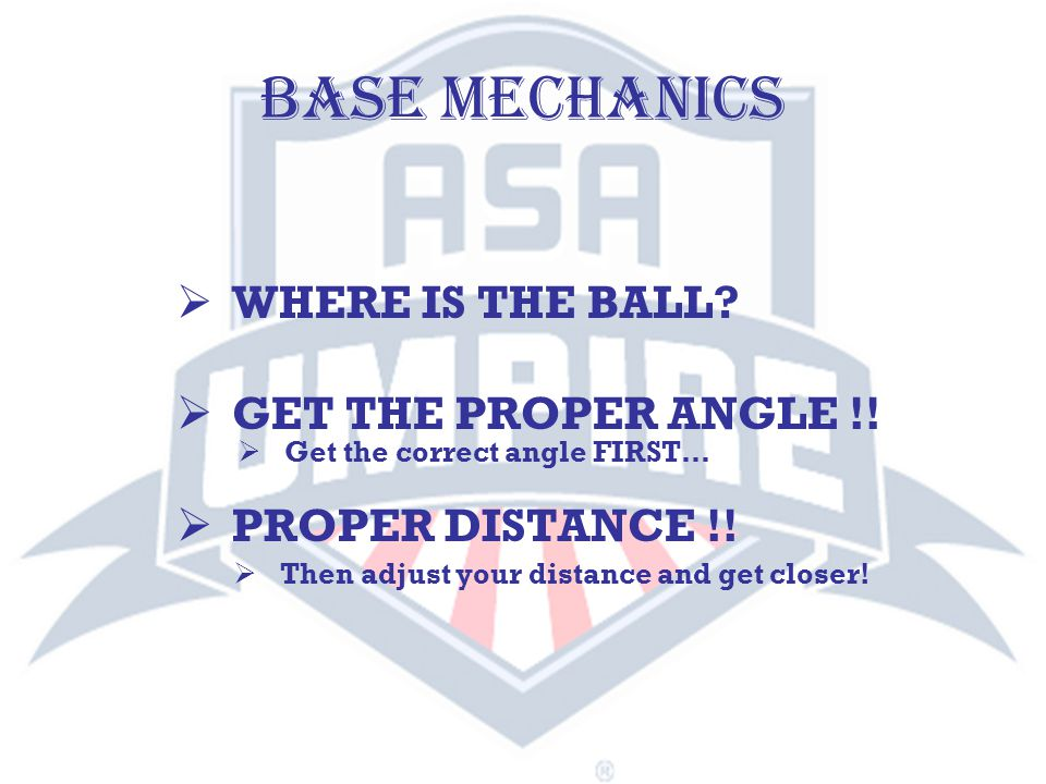 SINGLE UMPIRE - triple NOTE: On all base hit situations, umpire must watch runner tag bases and be aware of position of the ball.