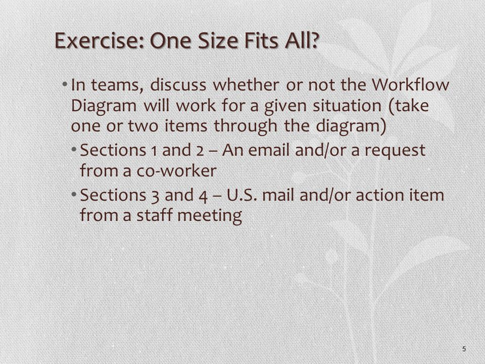 5 Exercise: One Size Fits All.