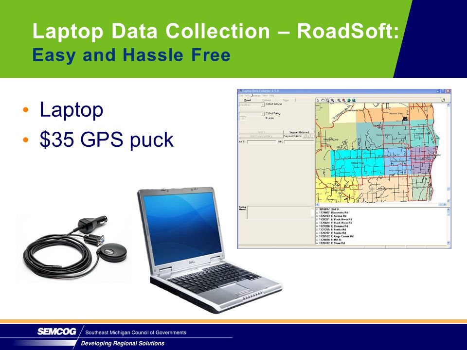Laptop $35 GPS puck Laptop Data Collection – RoadSoft: Easy and Hassle Free