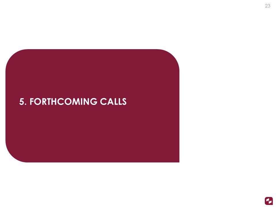 5. FORTHCOMING CALLS 23