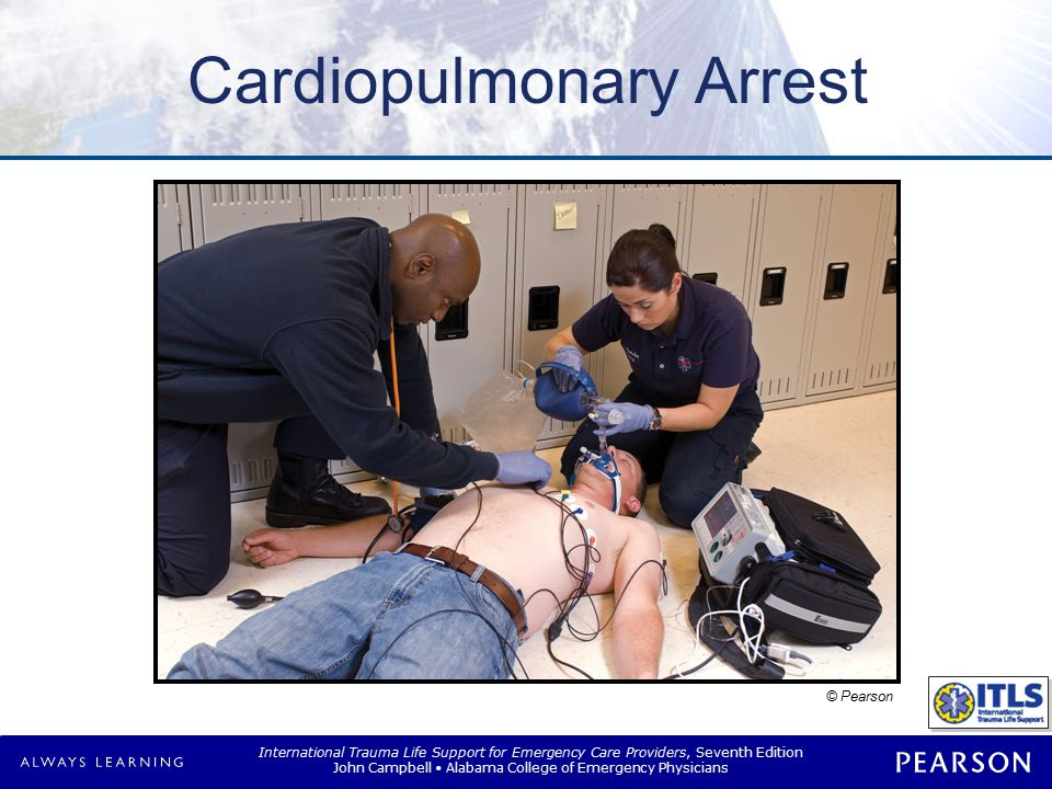 International Trauma Life Support for Emergency Care Providers, Seventh Edition John Campbell Alabama College of Emergency Physicians Overview Traumatic cardiac arrest –Treatable causes –Proper evaluation and management –Guidelines for withholding resuscitation