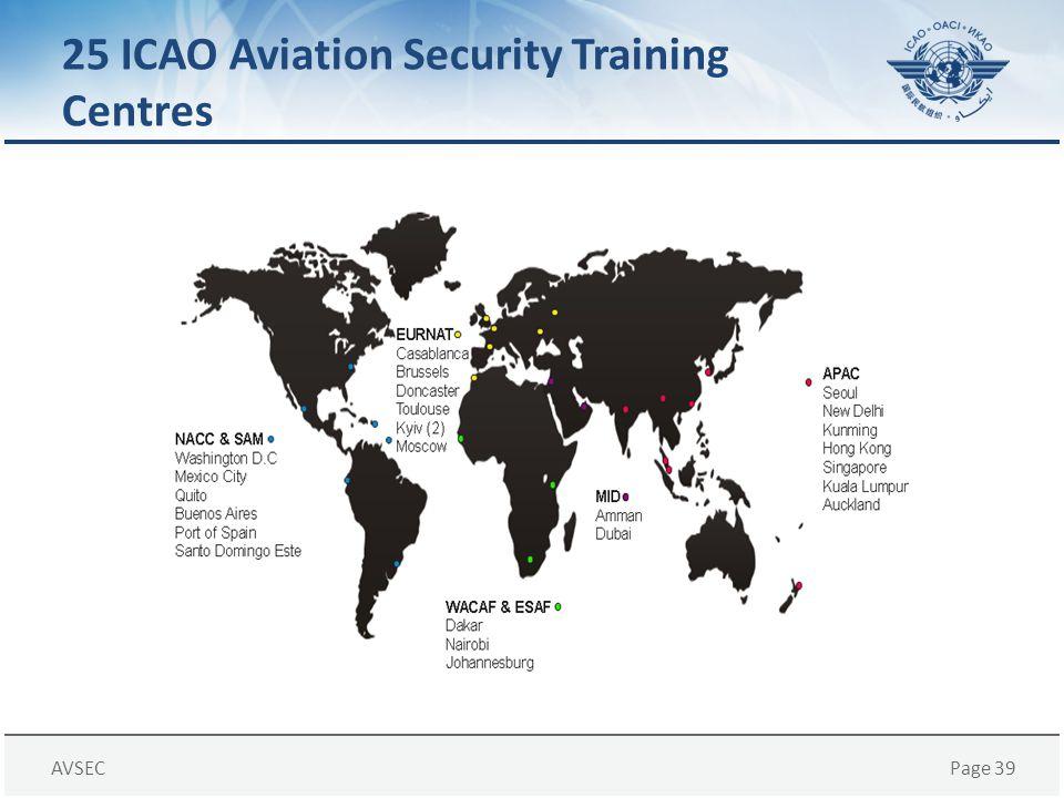 AVSECPage 39 25 ICAO Aviation Security Training Centres