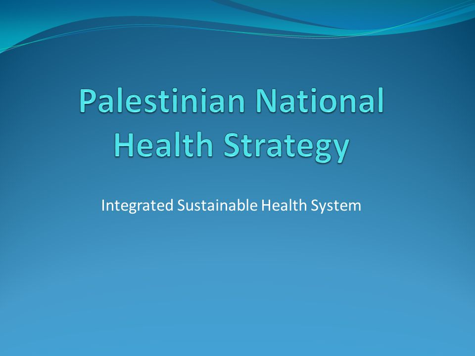Integrated Sustainable Health System