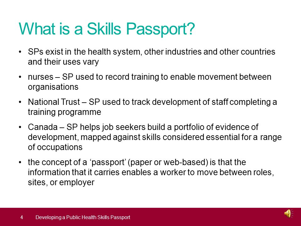Why are we developing a Skills Passport.