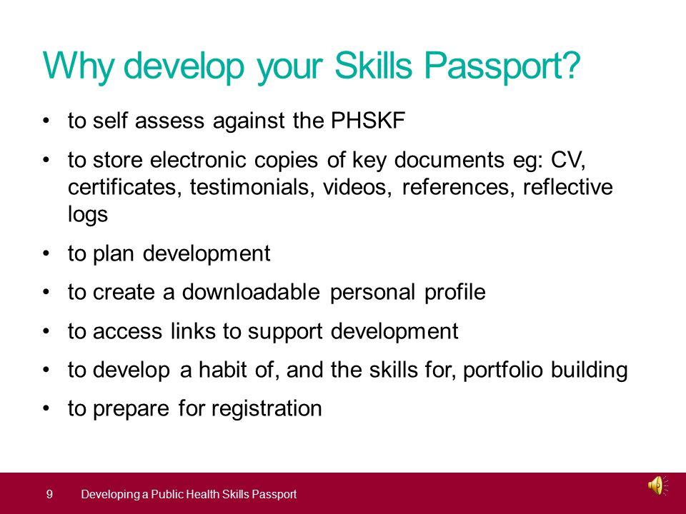 Why develop your Skills Passport.