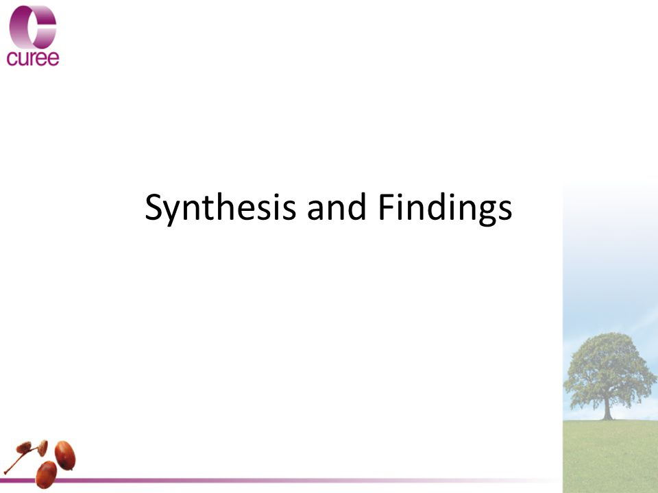 Synthesis and Findings