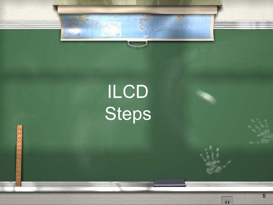 5 ILCD Steps