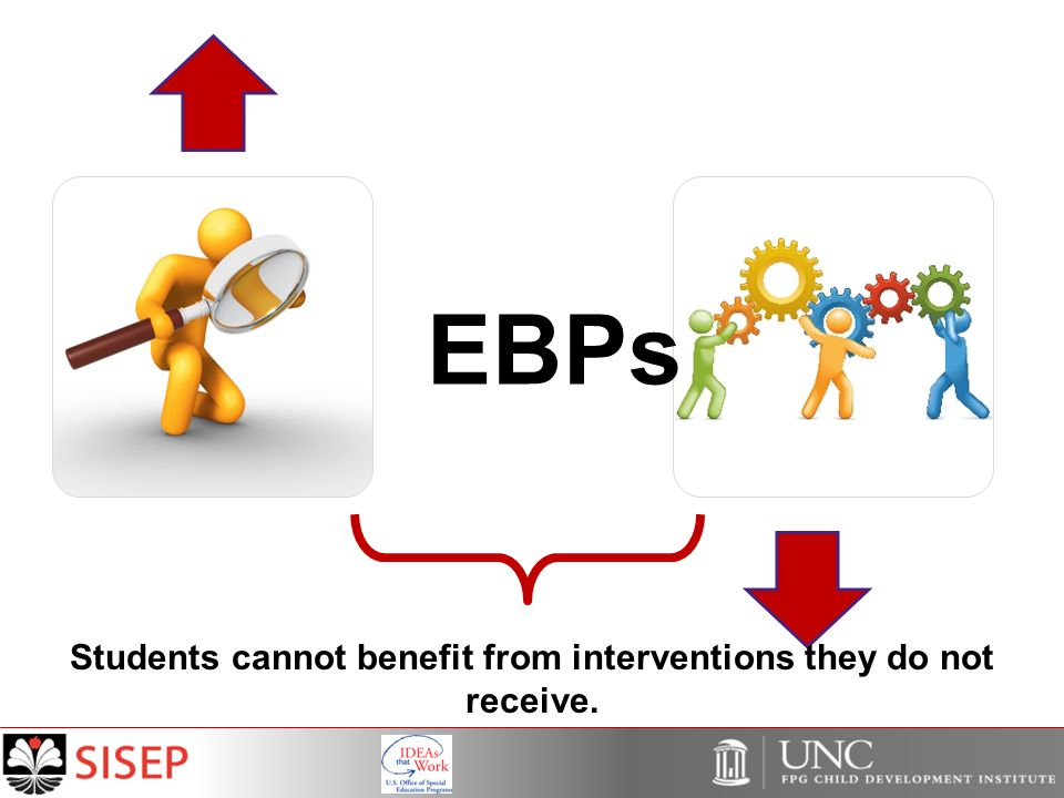 EBPs Students cannot benefit from interventions they do not receive.