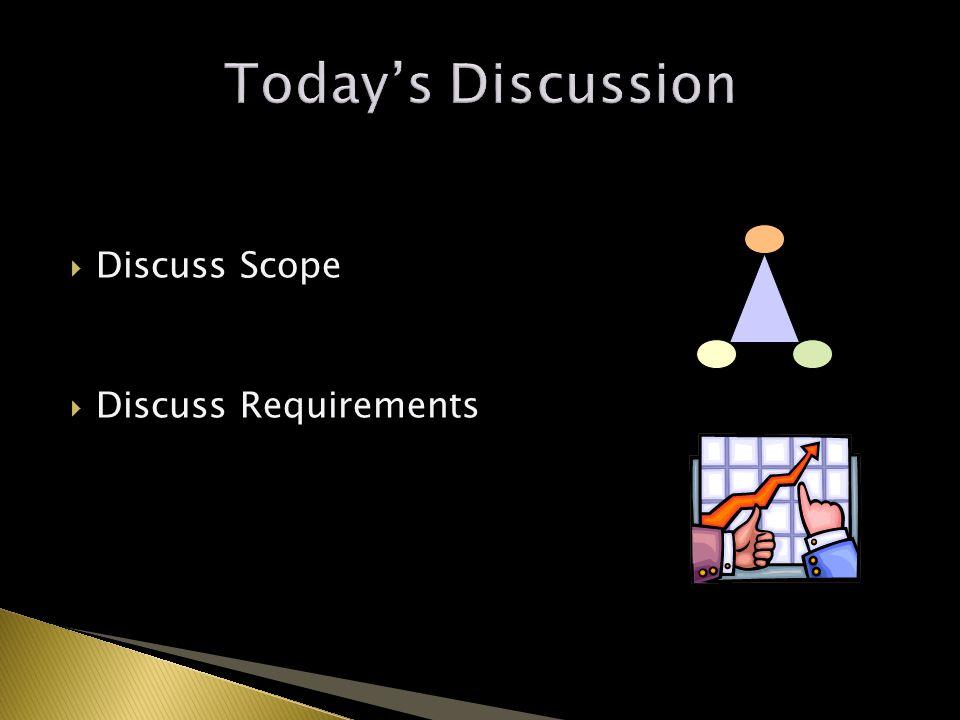  Discuss Scope  Discuss Requirements 2