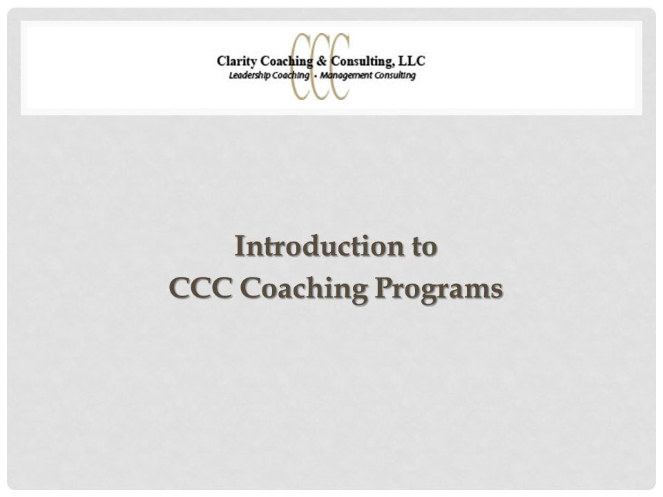 PURPOSE OF COACHING Preparing for a stretch assignment or role Transitioning into a new executive team or organization Developing critical leadership and interpersonal skills Preventing potential derailment Enhancing self-awareness of development priorities Focused, individualized learning, feedback and support for leaders who are:
