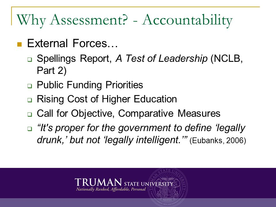 Why Assessment.