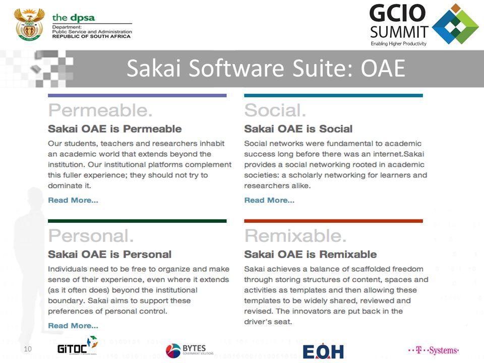 Sakai Software Suite: OAE 10