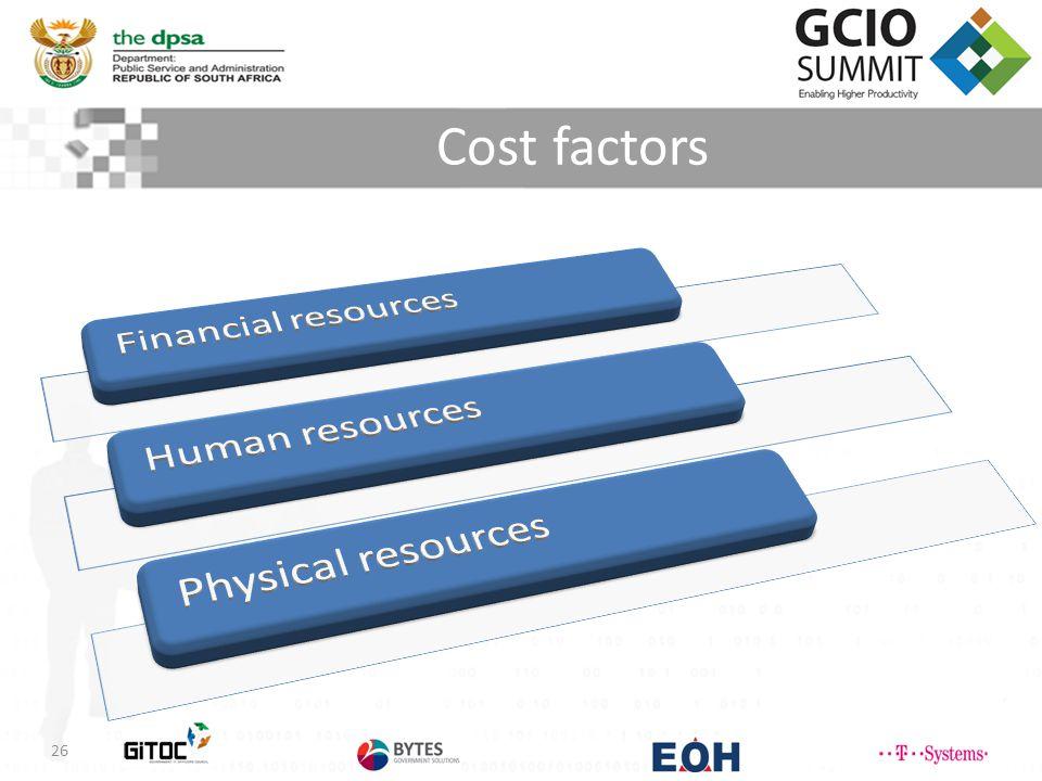 Cost factors 26