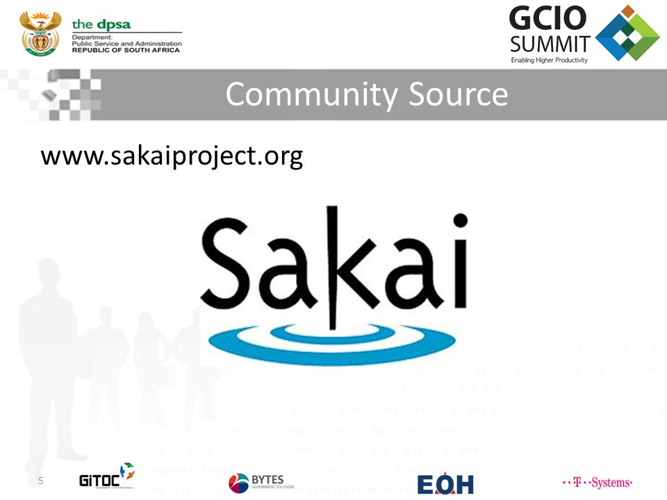 Community Source www.sakaiproject.org 5