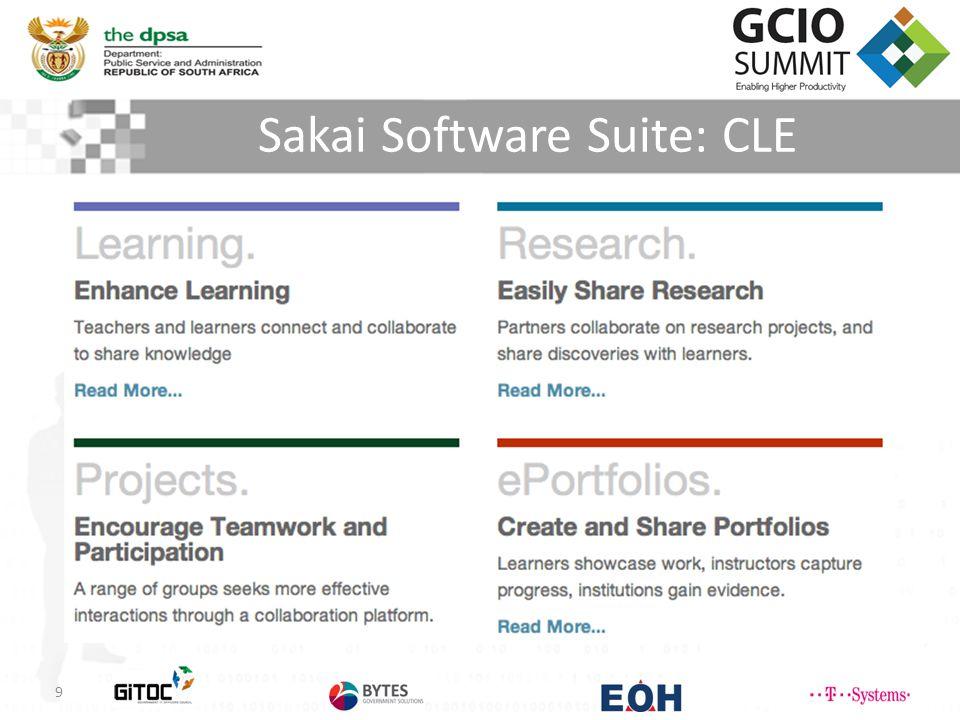 Sakai Software Suite: CLE 9