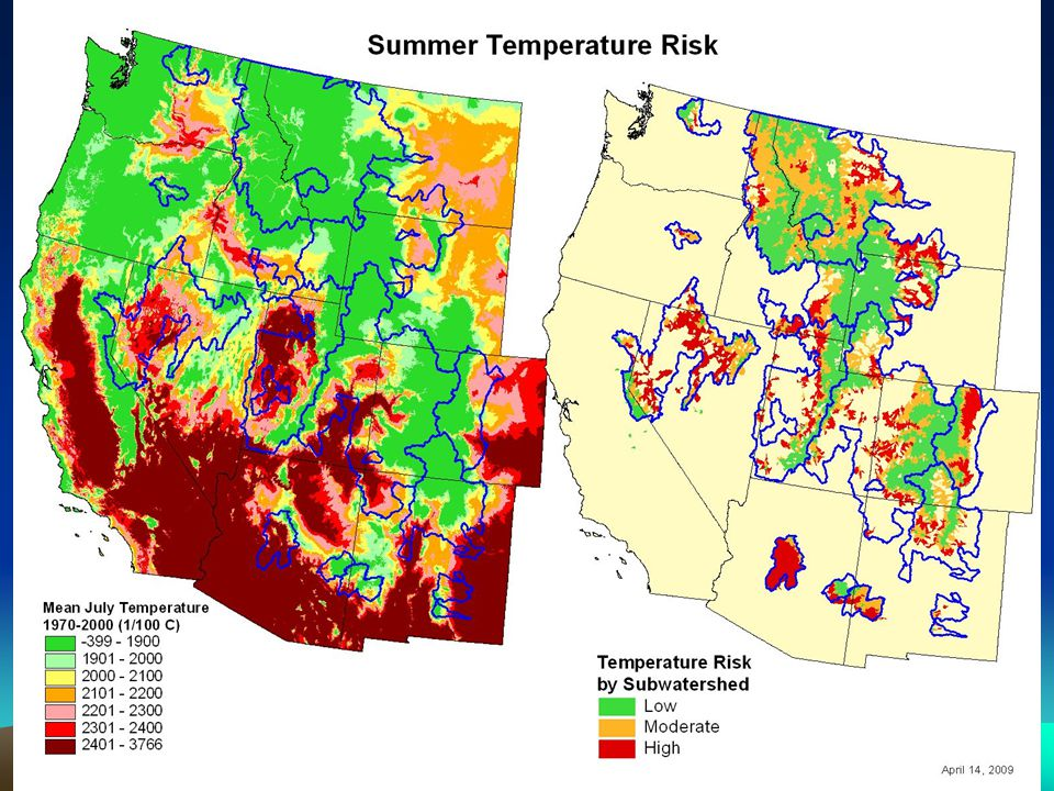 Winter Flooding 35% of current populations at high risk, including a substantial number of mid-elevation populations in Northern Bonneville