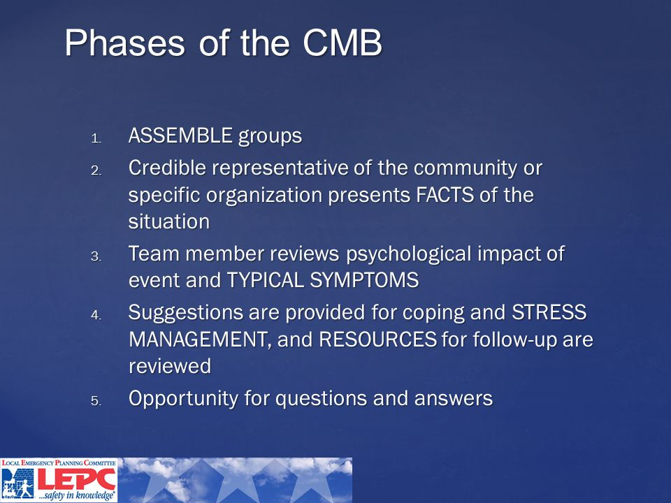 Phases of the CMB 1. ASSEMBLE groups 2.