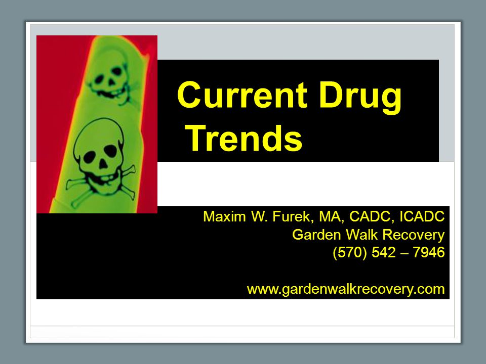 Current Drug Trends Maxim W.