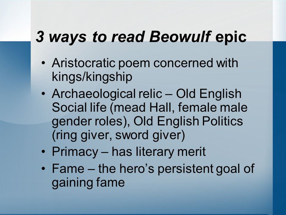 What does Beowulf wear to battle The monsters exemplify in their behaviors what the Germanic cultures feared and abhorred most – disloyalty, outlawry, cowardice, malice, and greed