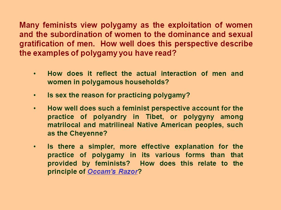 How does it reflect the actual interaction of men and women in polygamous households.