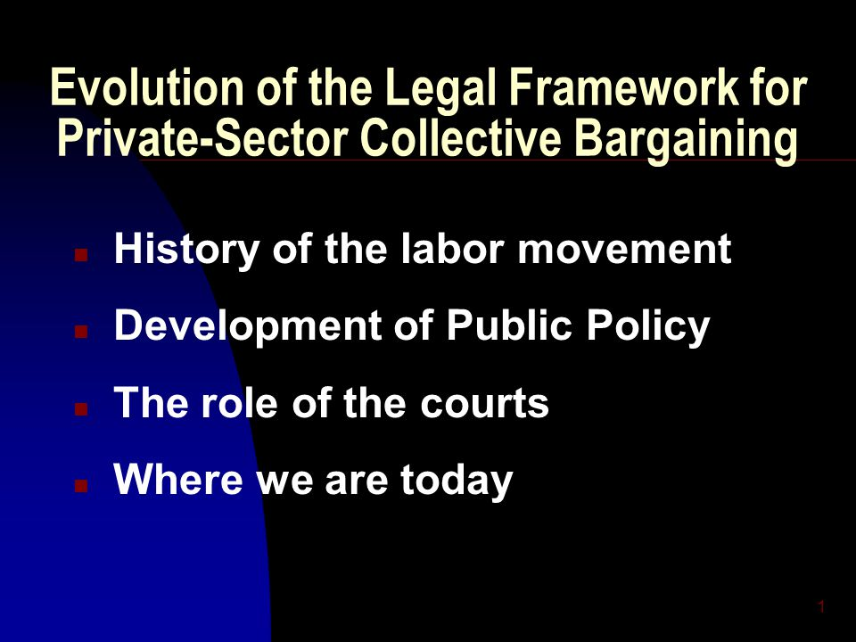 2 Public Policy Toward Unions 1800 - 1932Period of Opposition 1918 - 1932Transition > Acceptance 1932 - 1947Period of Support 1947 - 1990' s Period of Control 1990' s Transformation???
