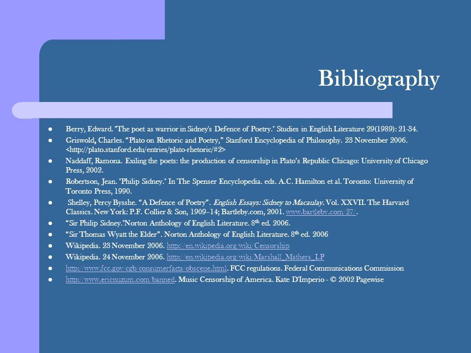 Bibliography Berry, Edward.