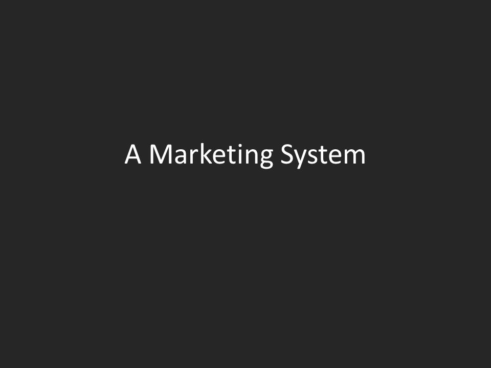 A Marketing System