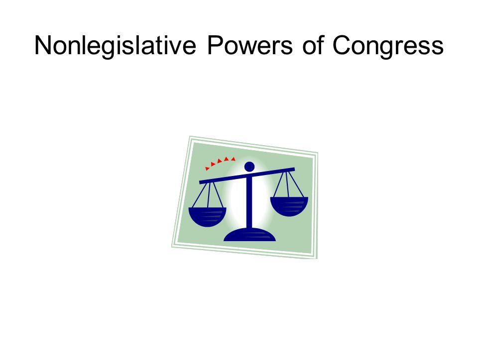 Nonlegislative Powers of Congress
