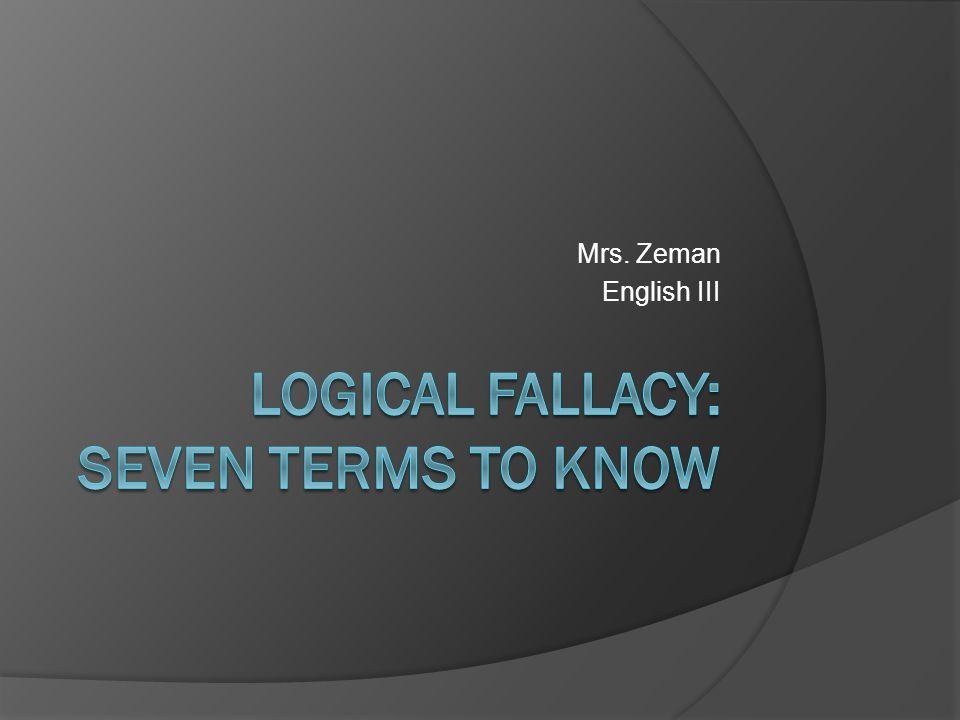 Mrs. Zeman English III