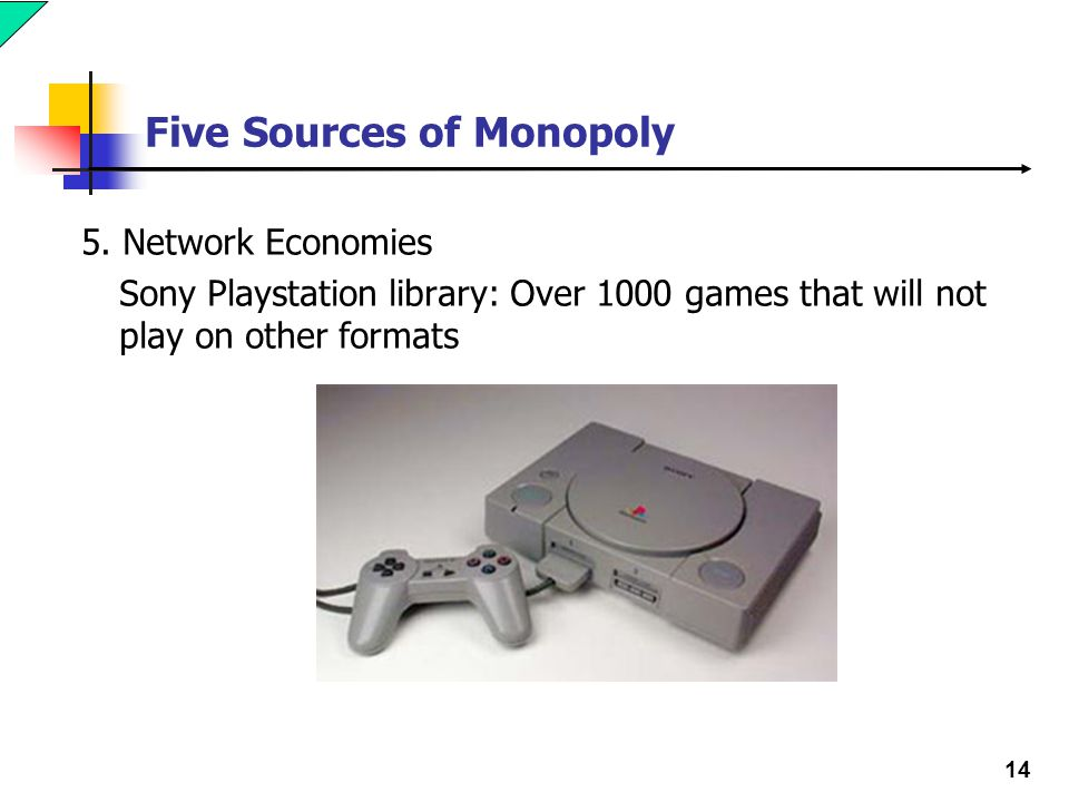 14 Five Sources of Monopoly 5.