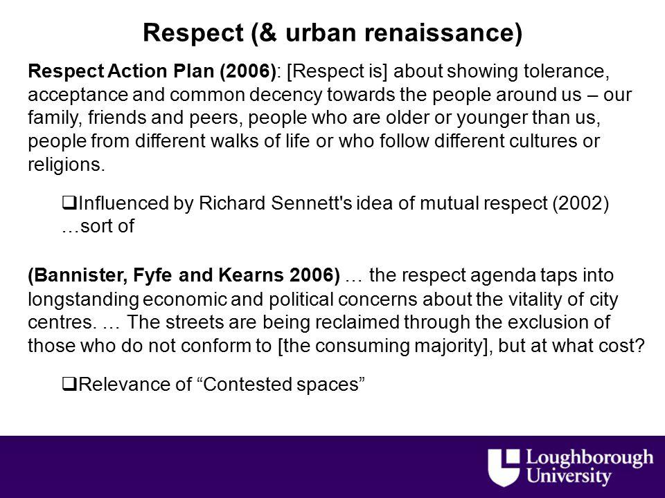 Contested spaces.e.g.