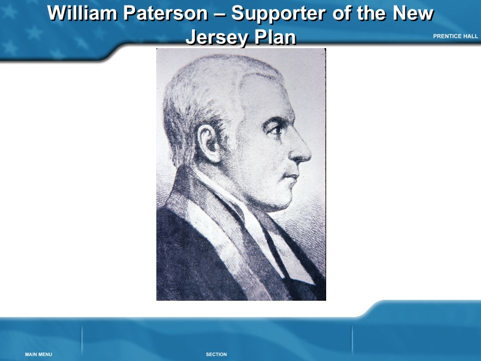 William Paterson – Supporter of the New Jersey Plan