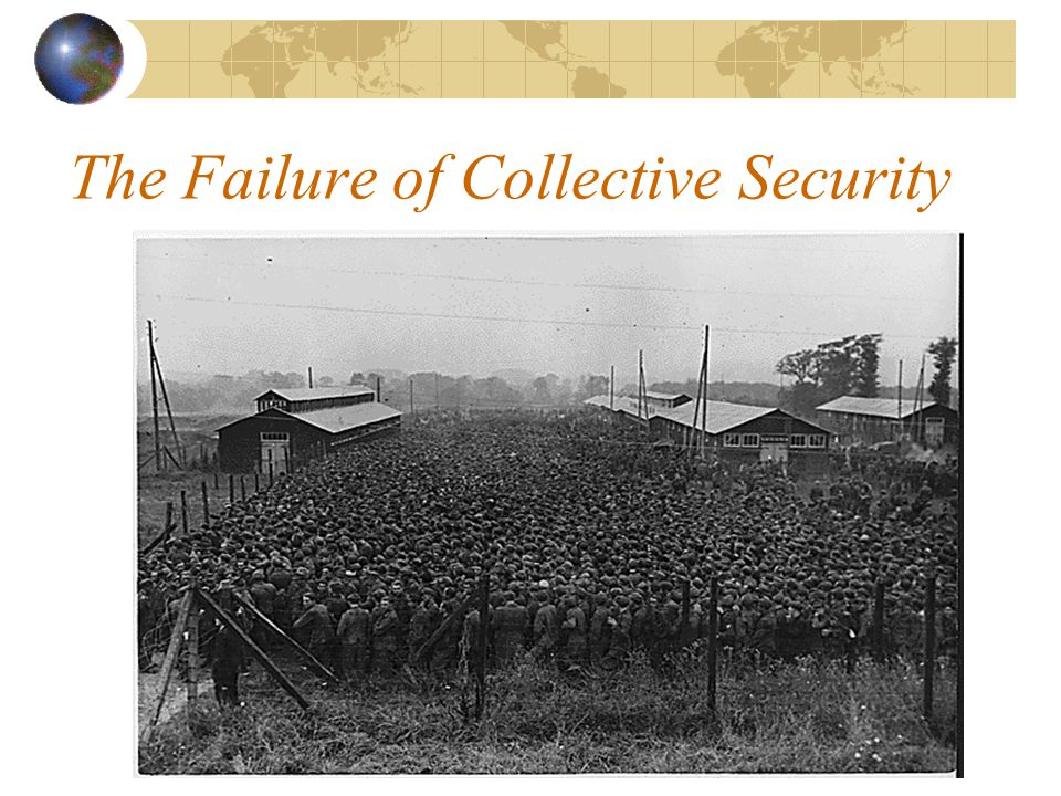 League Failures France continues to balance against Germany Alliances with reconfigured states of Poland and Romania Alliances with new states of Yugoslavia and Czechoslovakia Germany claims a soft border on its east Japan insists on its claim in Manchuria Italy invades Ethiopia