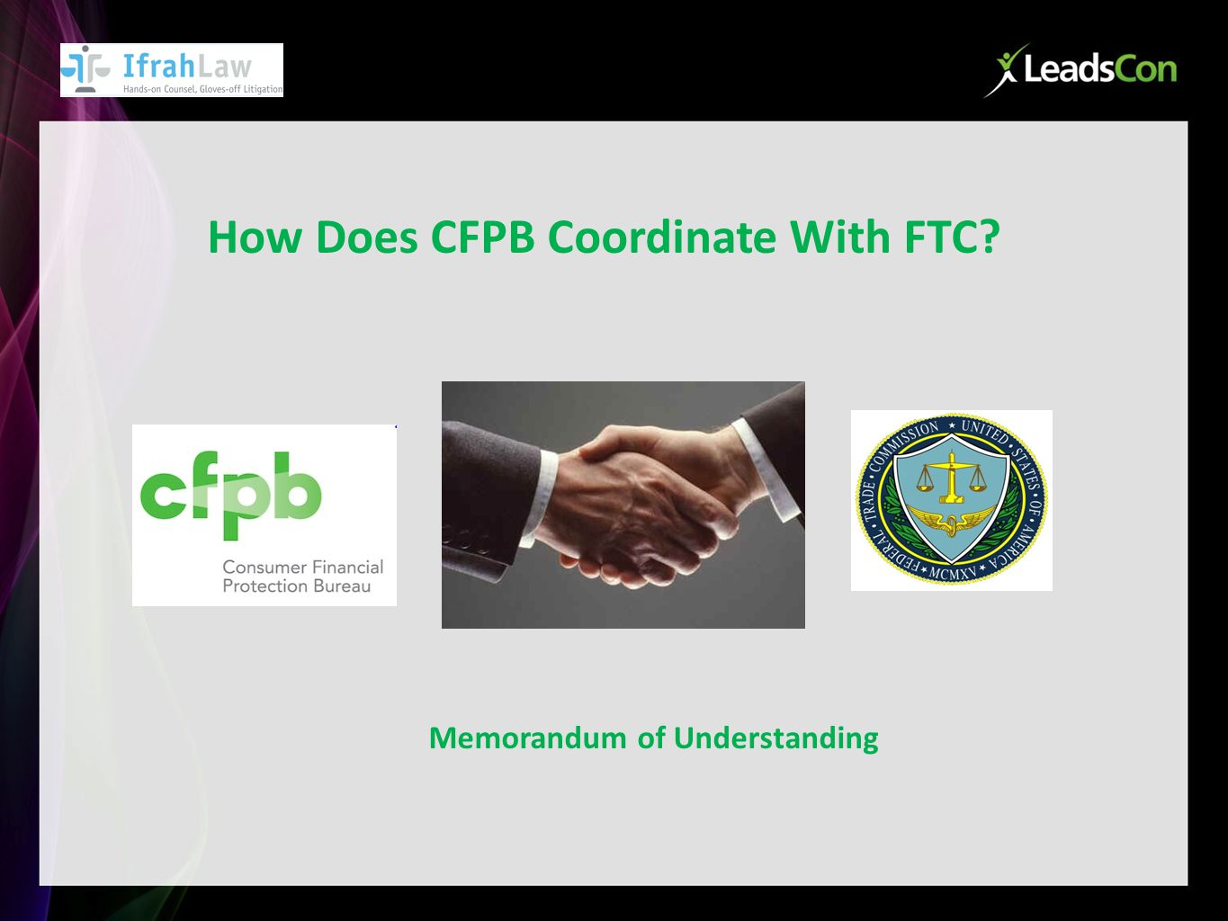 How Does CFPB Coordinate With FTC Memorandum of Understanding