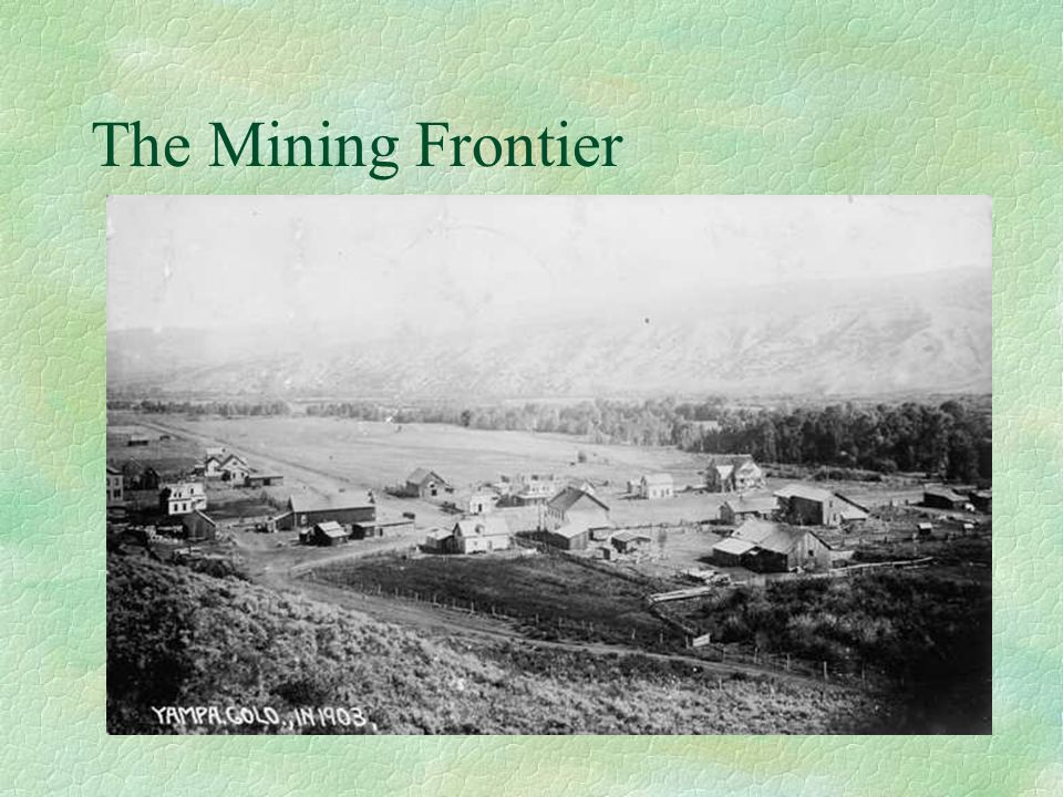 The Closing of the Frontier §1890- No frontier left in the country §1893- Frederick Jackson Turner: The Frontier Thesis §The Frontier had been a safety valve and had helped shape American National Character §Fear that closed frontier would cause problems