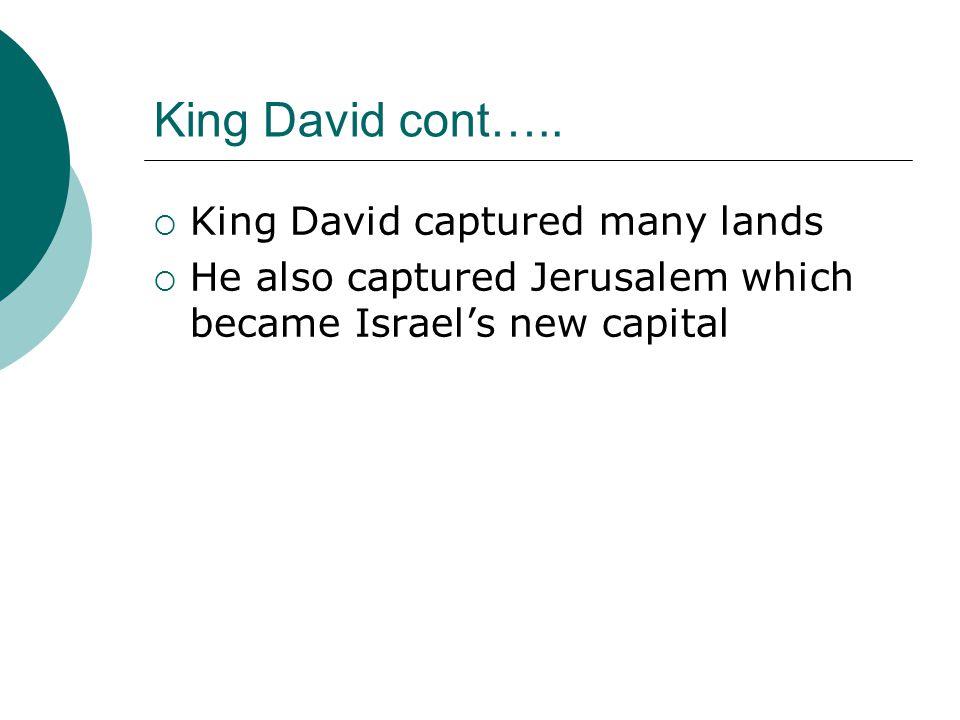 King David cont…..