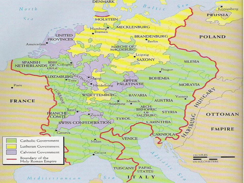 Religious Wars Of Europe By 1550's 1/3 of France was Protestant Calvinists Called the Huguenots, they worked to reform rest of Fr. –Catholic King Henr