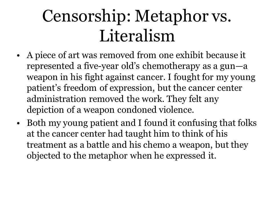 Censorship: Metaphor vs.