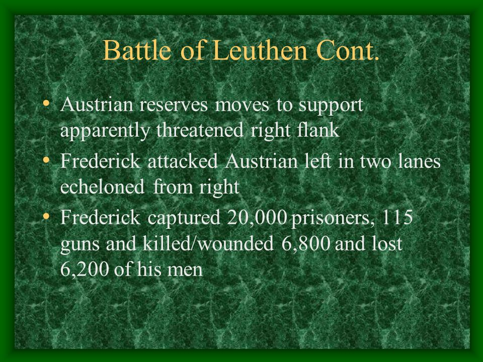 Battle of Leuthen Cont.