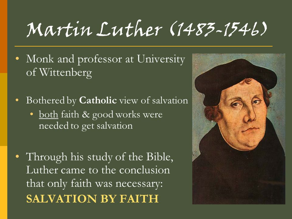 John Calvin (1509-1564) Similar beliefs as Luther emphasized all-powerful nature of God Calvin believed in predestination Predestination –God determines each person's fate the elect – those chosen for heaven Faith revealed by living righteous life Expanded Protestantism