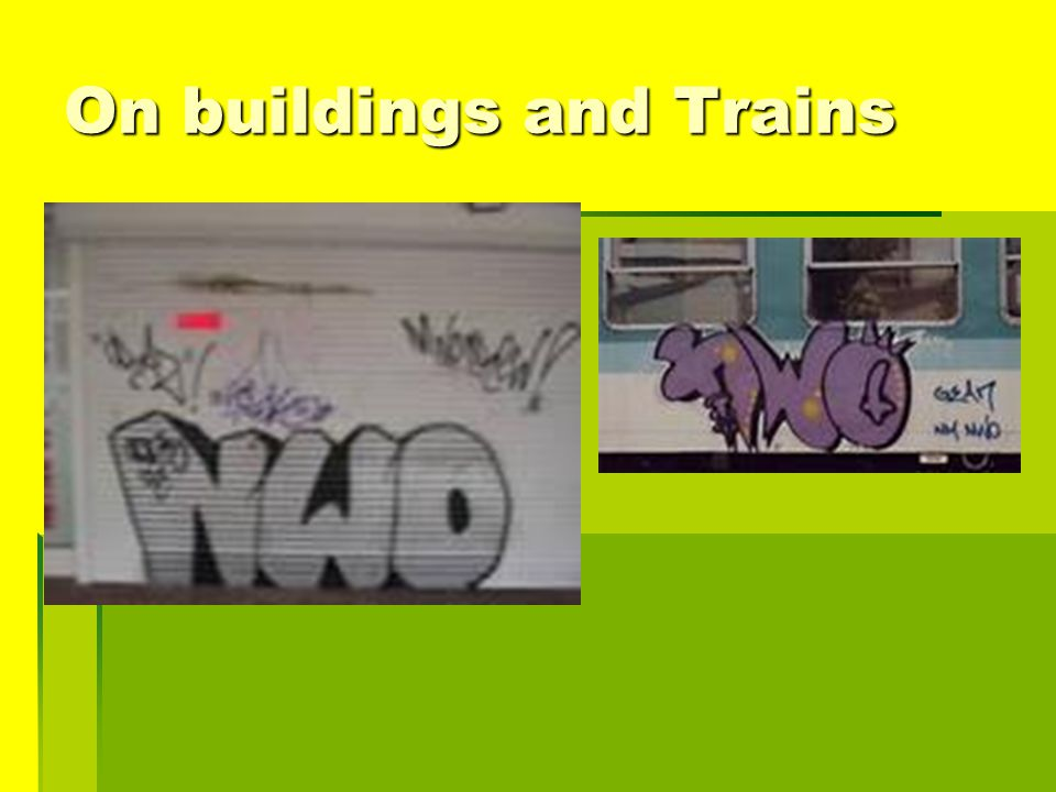 On buildings and Trains