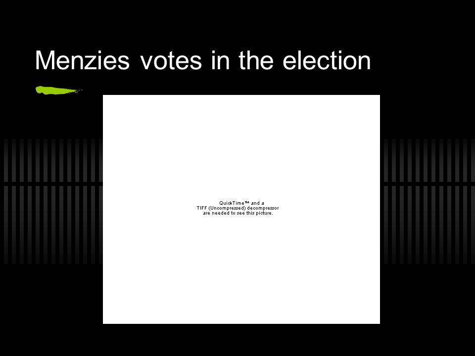 Menzies votes in the election