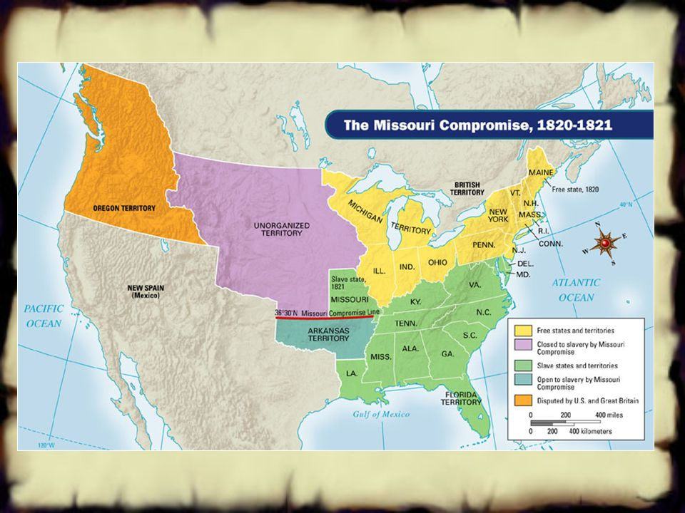 Threats to Nationalism Division over Slavery The Missouri Compromise 1819: Missouri asks to be admitted as a slave state huge controversy !! 1820 comp