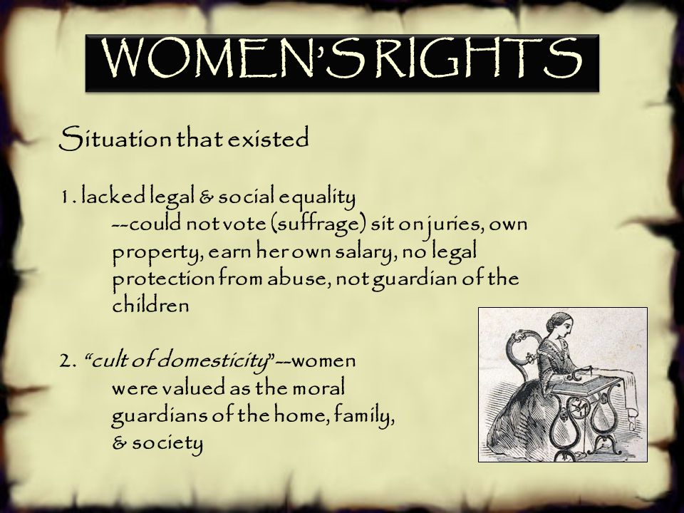 d.Explain women's efforts to gain suffrage; include Elizabeth Cady Stanton and the Seneca Falls Conference. SSUSH7