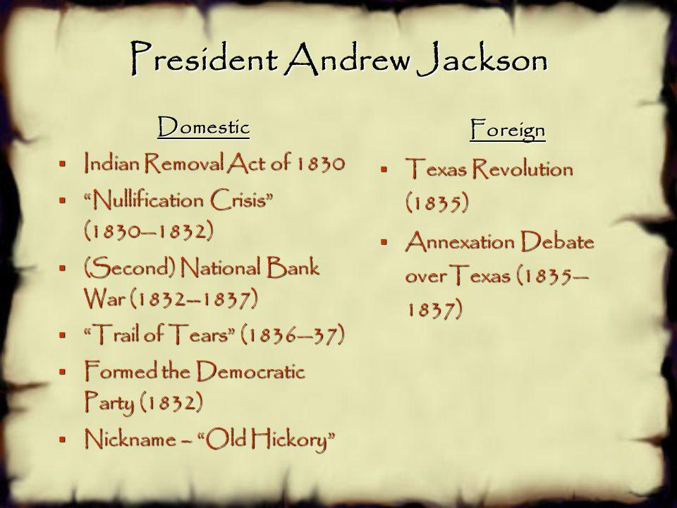 President Andrew Jackson 7 th President 1829—1837 Party: Democratic Home State: Tennessee Vice President: John C. Calhoun & Martin Van Buren