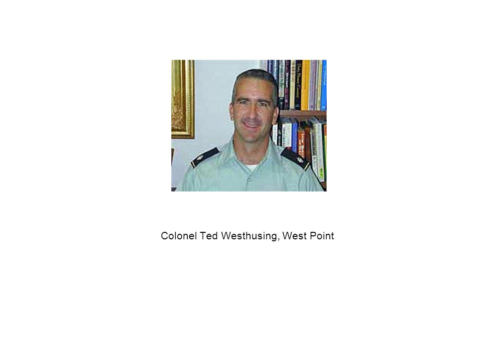 Colonel Ted Westhusing, West Point