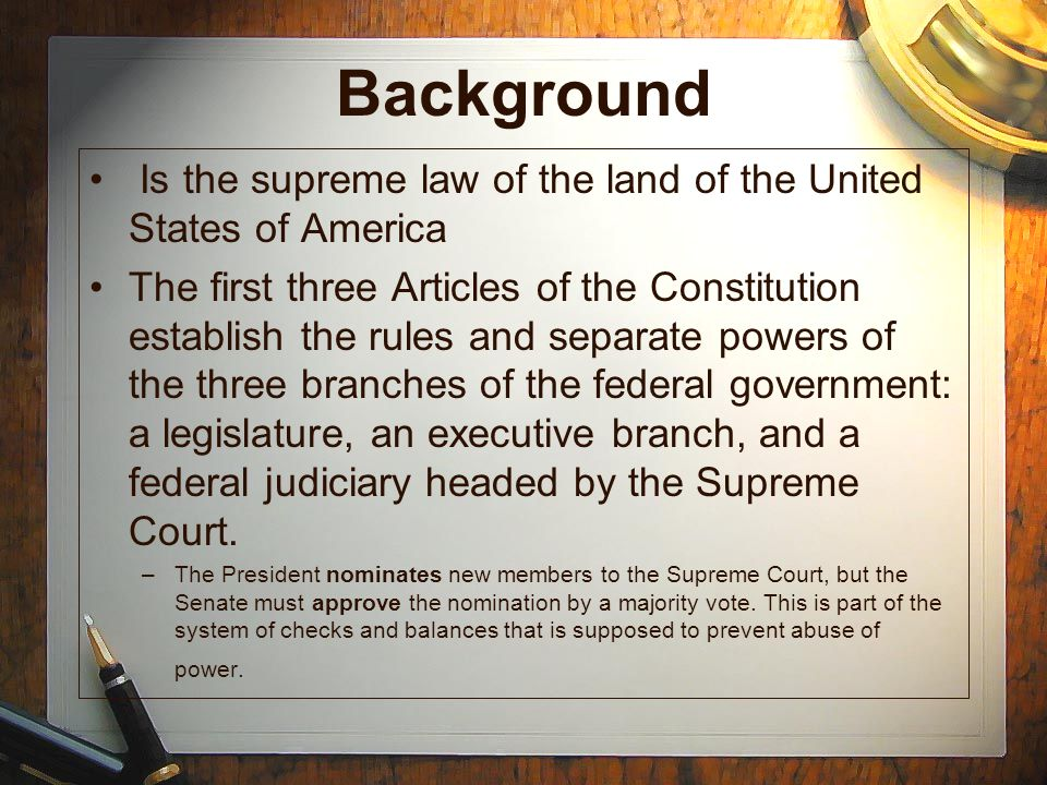 United States Constitution: The Bill of Rights The First 10 Amendments to the Constitution Take notes on the slides as they appear.