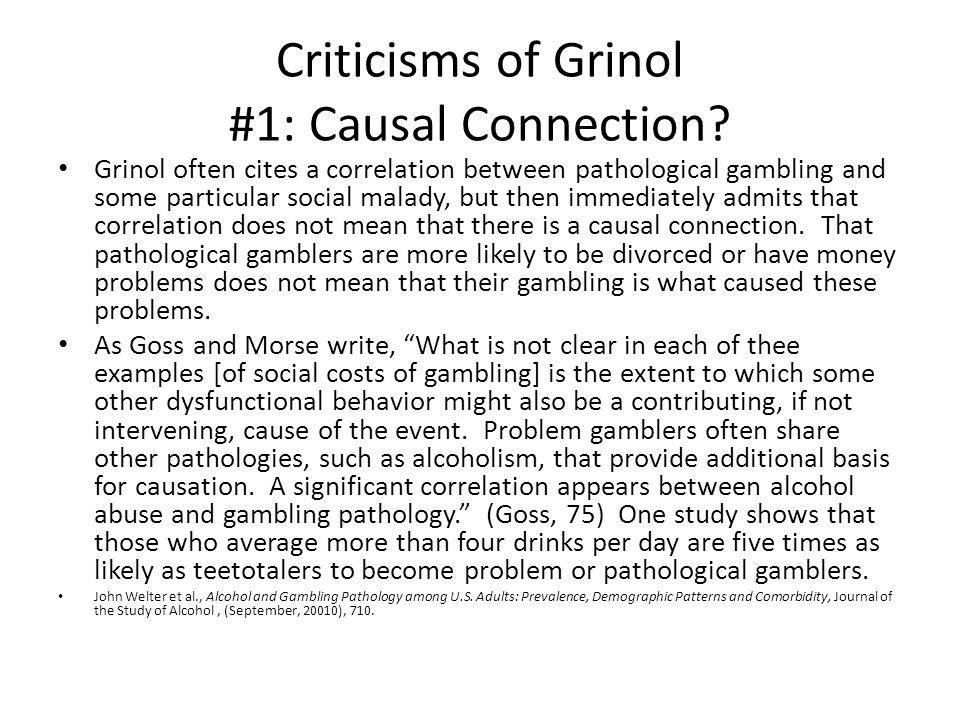#2: Grinols: Prohibition Solution.