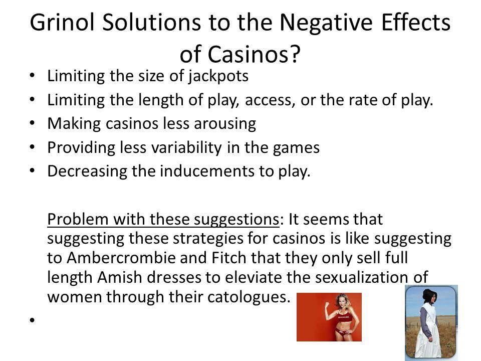 Morse/Goss Solution: licensing of patrons of casinos.