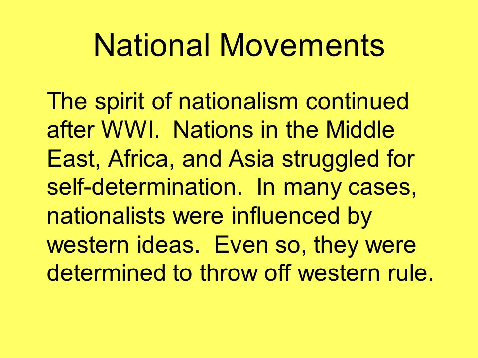 Chinese Nationalism China was in disarray after WWI.